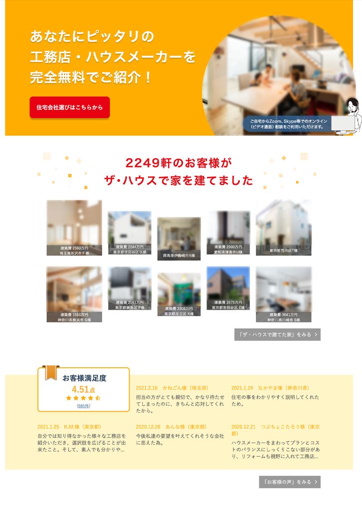 ザ・ハウスのトップページ
